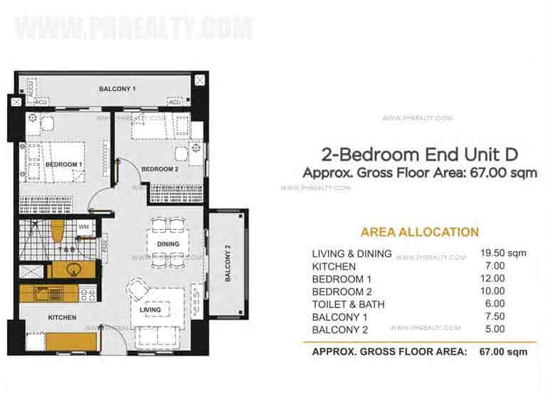 Viera Residences - 2 - Bedroom Inner Unit D