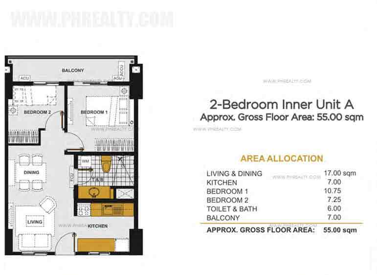 Viera Residences - 2 - Bedroom Inner Unit A