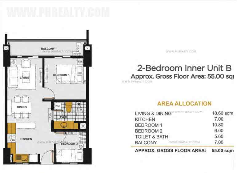Viera Residences - 2 - Bedroom Inner Unit B