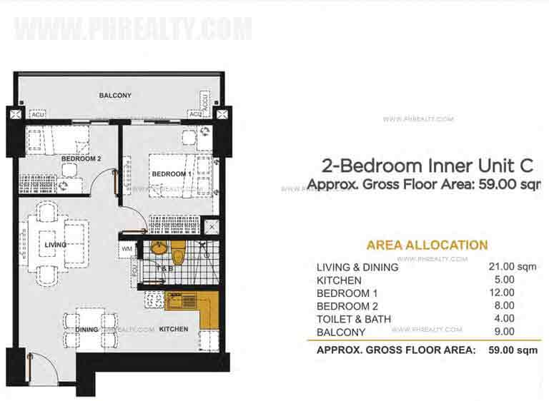 Viera Residences - 2 - Bedroom Inner Unit C