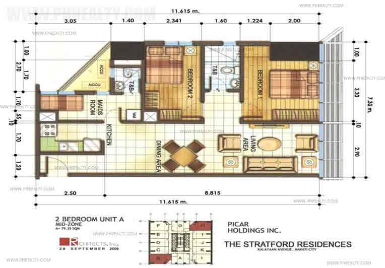 The Stratford Residences - 2 Bedrooms Unit