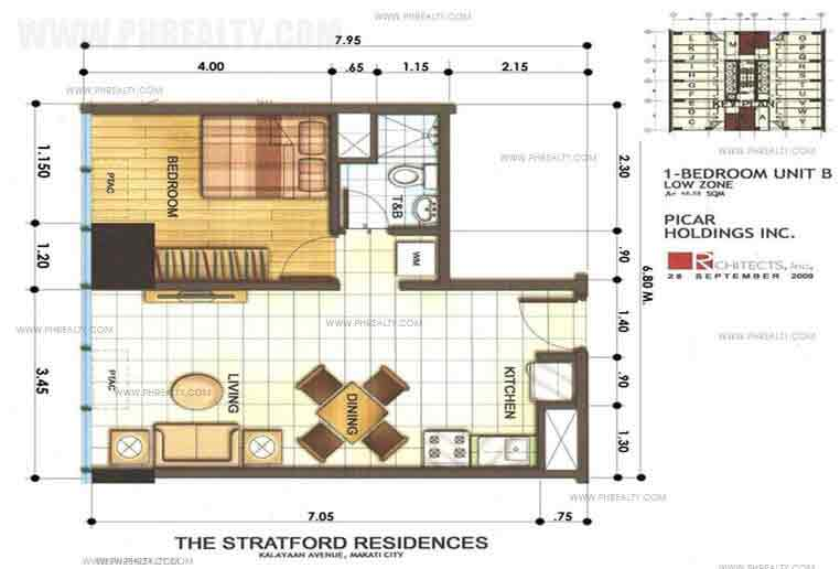 The Stratford Residences - 1 Bedrooms Unit