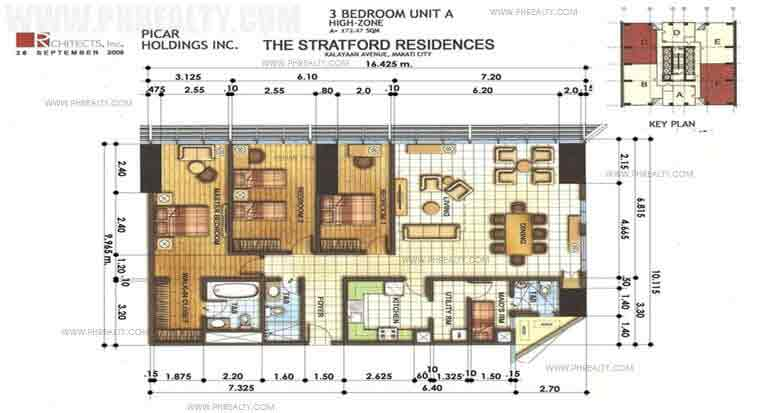The Stratford Residences - 3 Bedrooms Unit