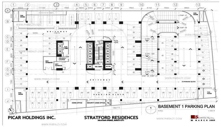 The Stratford Residences - Basement Plan