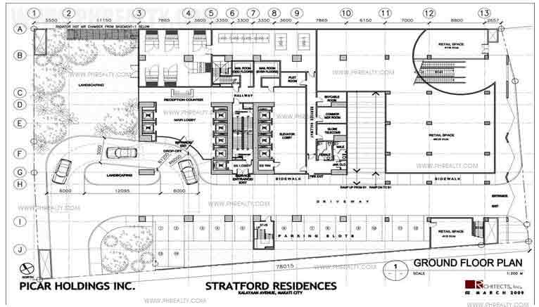 The Stratford Residences - 2nd Floor Plan