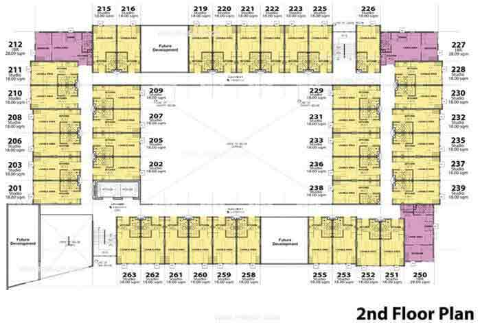 Stanford Suites - 2nd Floor Plan