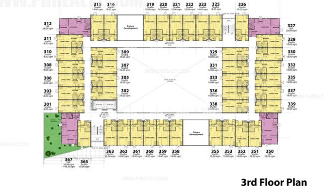 Stanford Suites - 3rd Floor Plan