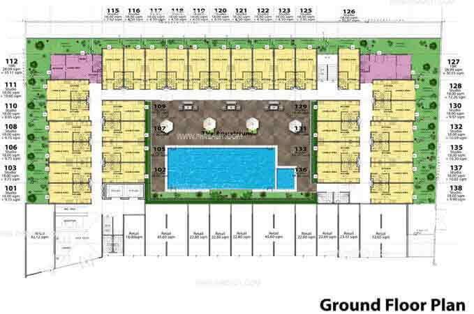 Stanford Suites - Ground Floor Plan