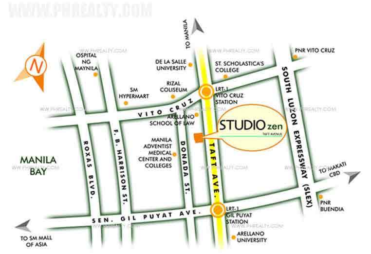 Studio Zen - Location & Vicinity