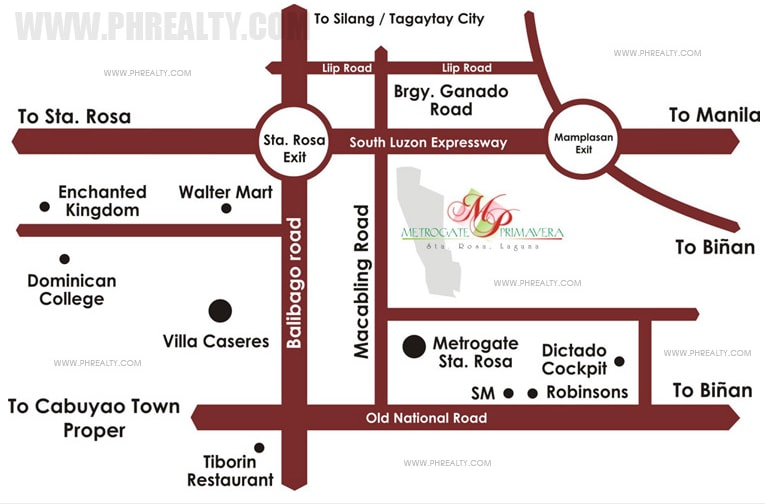 Metrogate Primavera - Location Map