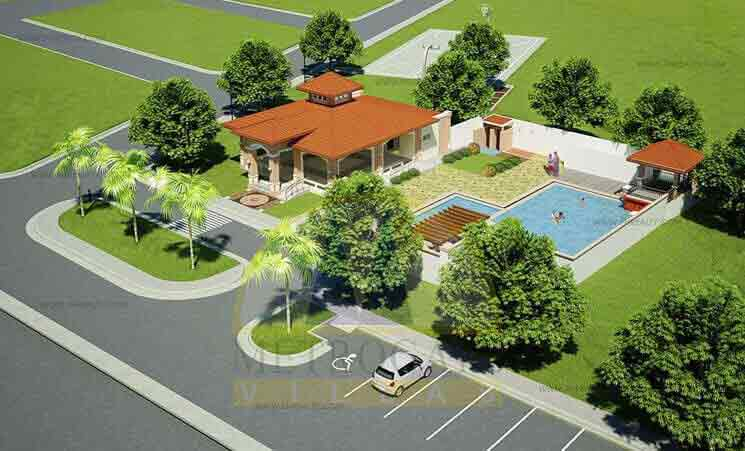 Metrogate North Villas - Clubhouse Aerial View
