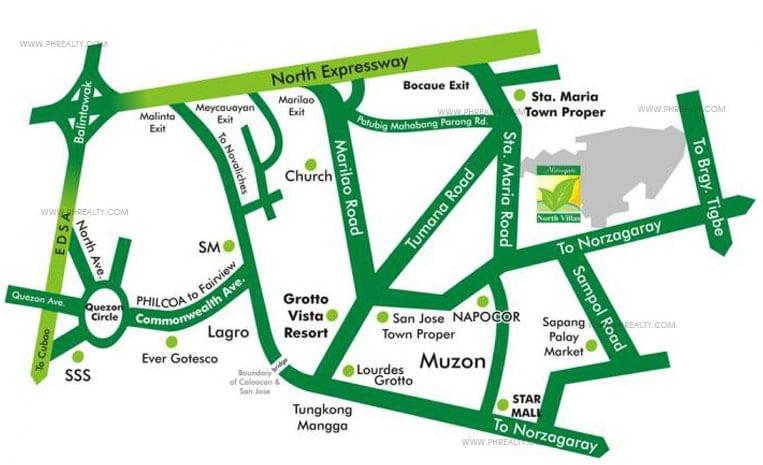 Metrogate North Villas - Location and Vicinity