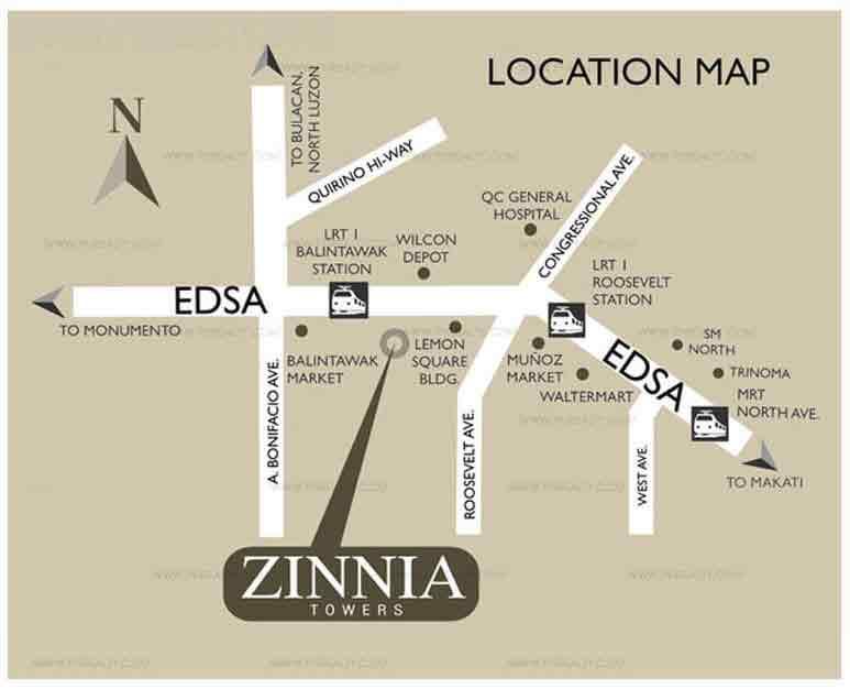 Zinnia Towers - Location & Vicinity