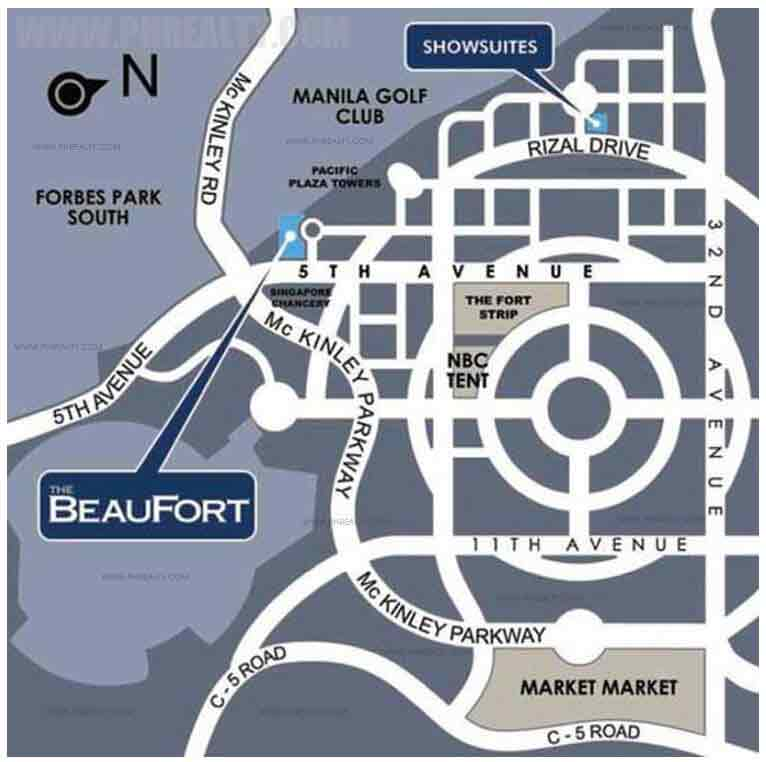 The Beaufort - Location & Vicinity