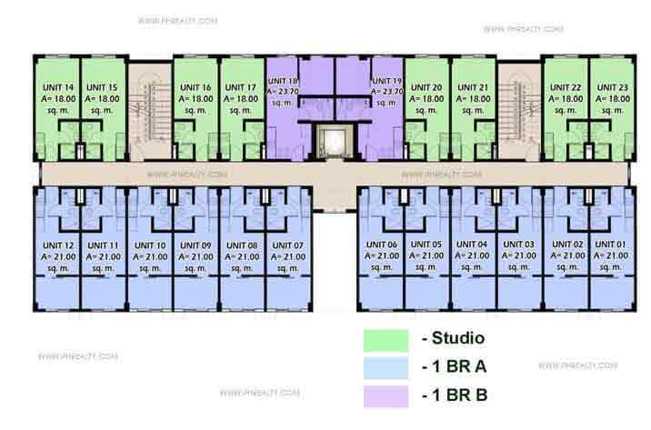 Moldex Residences - Typical Building Layout 2nd_6th_floor