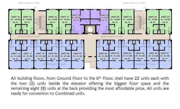 Moldex Residences - Typical Building Layout Ground Floor