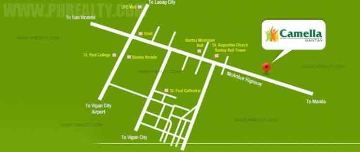 Camella Bantay - Location & Vicinity