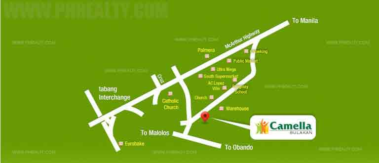 Camella Bulakan - Location & Vicinity