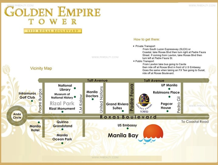 1322 Golden Empire Tower - Location
