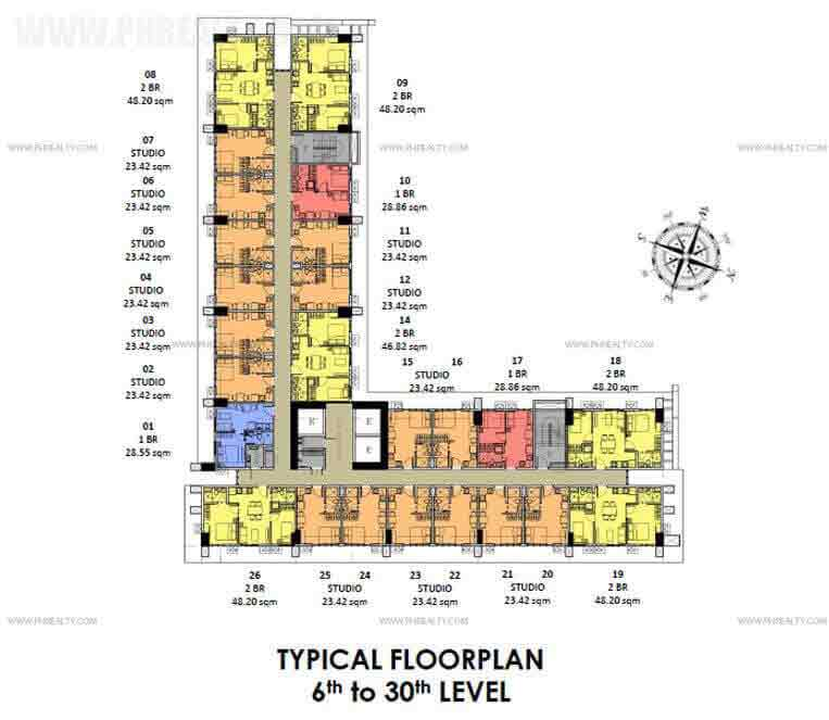 Covent Garden  - South Residences Typical Floor Plan