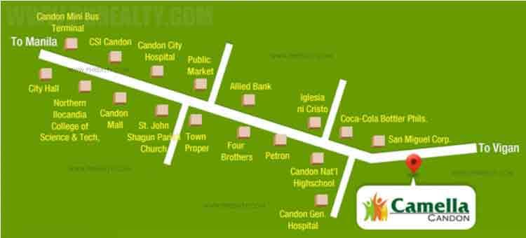 Camella Candon - Location & Vicinity