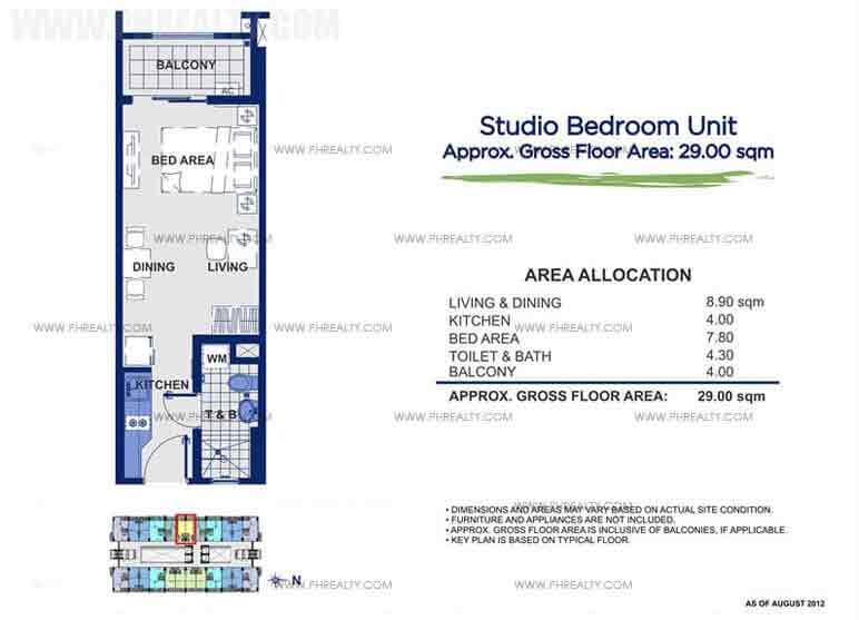 Sorrel Residences - Studio Unit