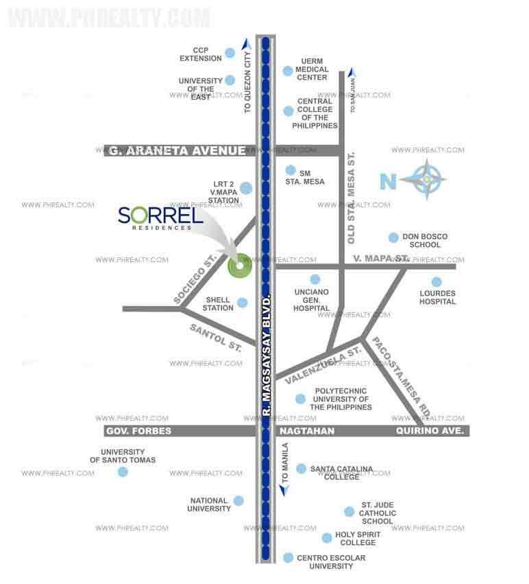 Sorrel Residences - Location & Vicinity
