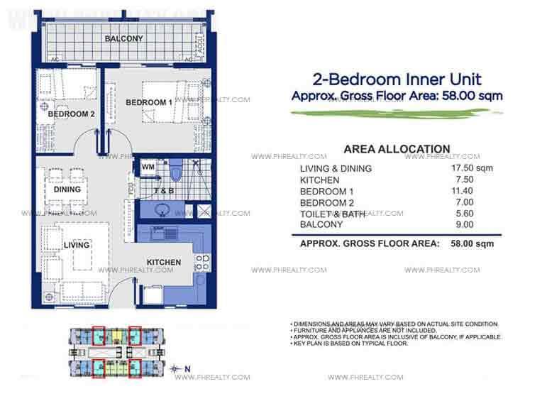 Sorrel Residences - 2 - Bedroom Unit