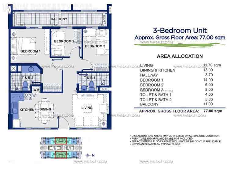 Sorrel Residences - 3 - Bedroom Unit