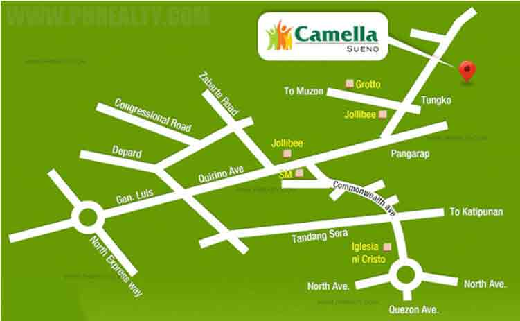 Camella Sueno - Location & Vicinity