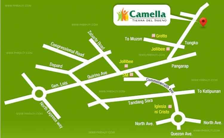 Camella Tierra Del Sueno - Location & Vicinity