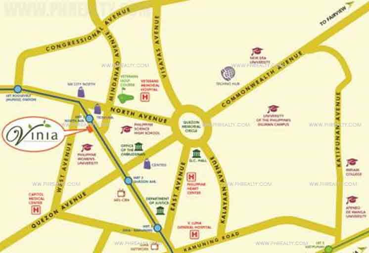 Vinia Residences - Location & Vicinity