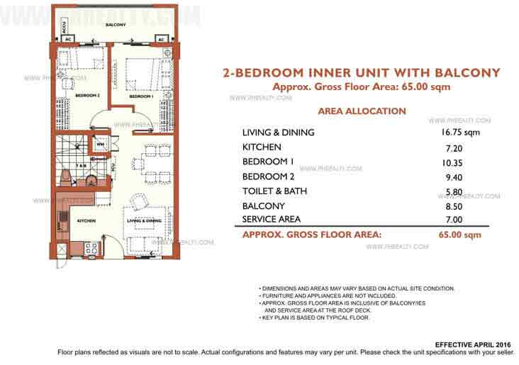 Alea Residences - 2 Bedroom Inner Unit