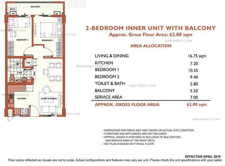 Alea Residences - 2 Bedroom Inner Unit