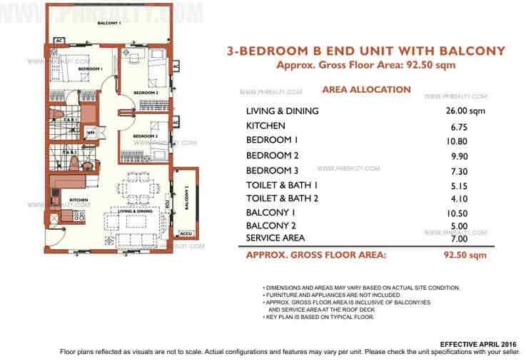 Alea Residences - 3 Bedroom Inner Unit