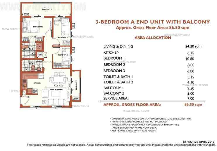 Alea Residences - 3 Bedroom Inner Unit