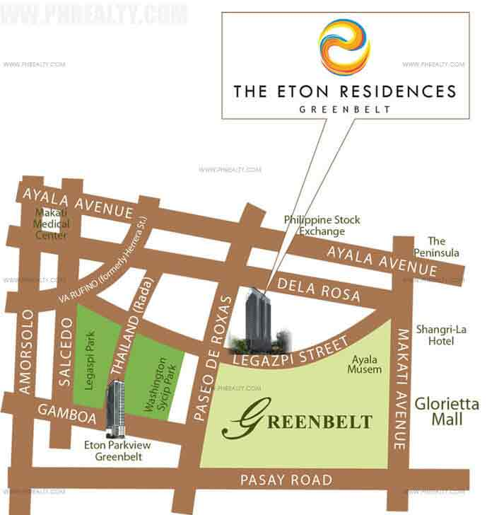 Eton Residences Greenbelt At Makati - Location & Vicinity