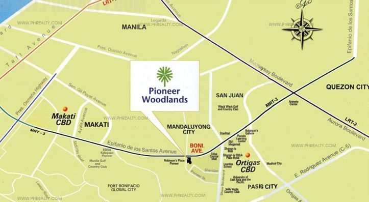 Pioneer Woodlands - Location & Vicinity