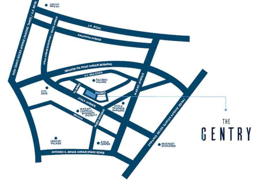 The Gentry Residences - Location & Vicinity
