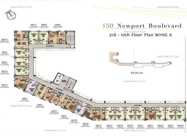 150 Newport Boulevard - 10th Floor Plan