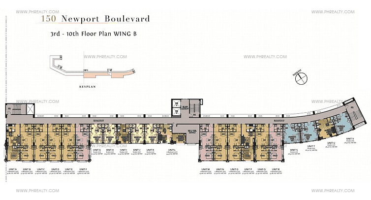 150 Newport Boulevard - B Wing Floor Plan