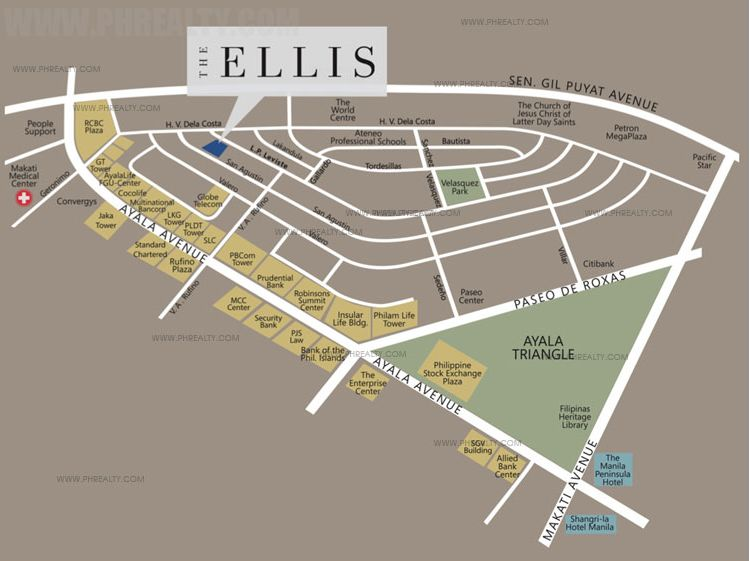 The Ellis Makati - Location & Vicinity