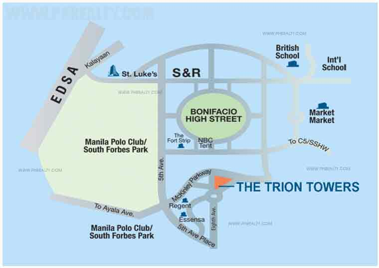 The Trion Towers - Location & Vicinity