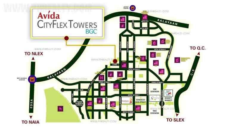 Avida CityFlex Towers BGC - Location & Vicinity
