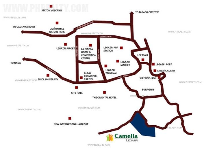 Camella Legazpi Ready For Occupancy House Lot For Sale In - Legazpi city map