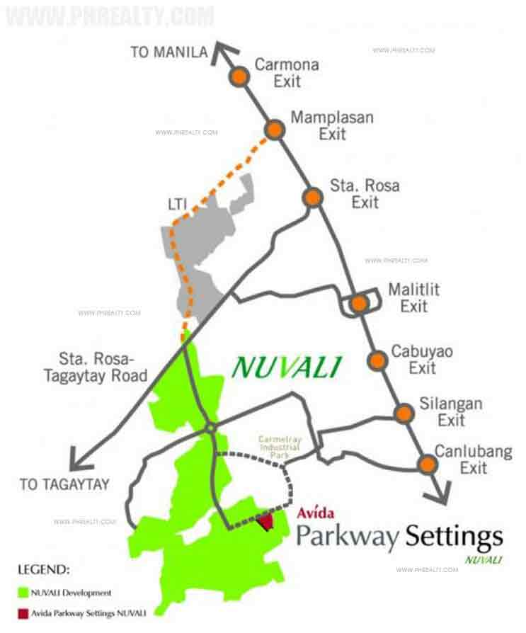 Avida Parkway Settings Nuvali - Location & Vicinity