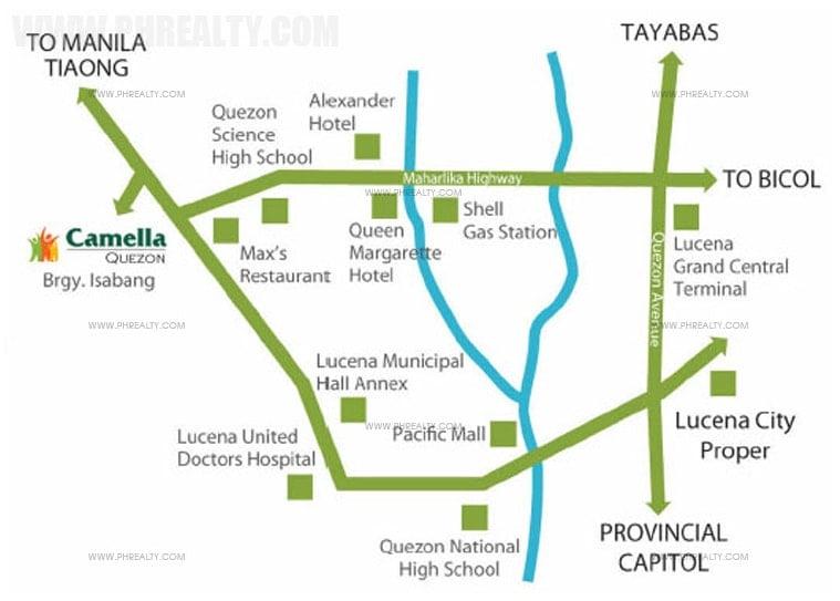 Camella Homes Quezon  - Location & Vicinity