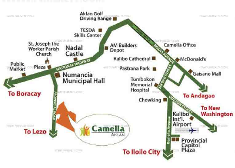 Camella Aklan  - Location & Vicinity