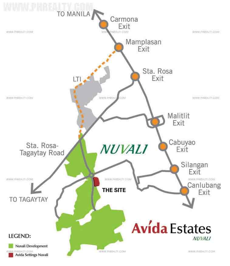 Avida Ridgeview Estates Nuvali - Location & Vicinity