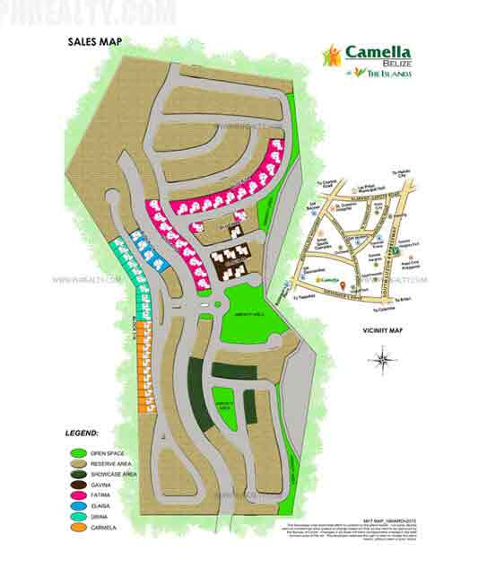 Camella Belize Dasma - Site Development Plan